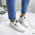 Женские кеды белого цвета, эко-кожа 39 ПОСЛЕДНИЙ РАЗМЕР, фото 4