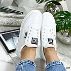 Женские кеды белого цвета, эко-кожа 39 ПОСЛЕДНИЙ РАЗМЕР, фото 7