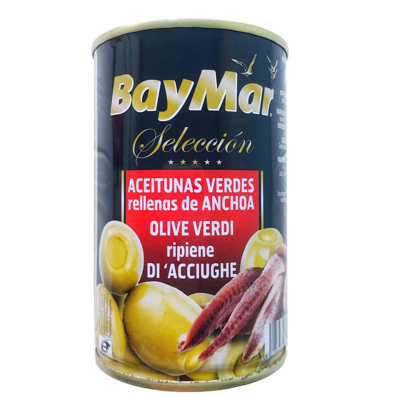 Оливки BayMar фаршировані анчоусом 350г, 12/ящ