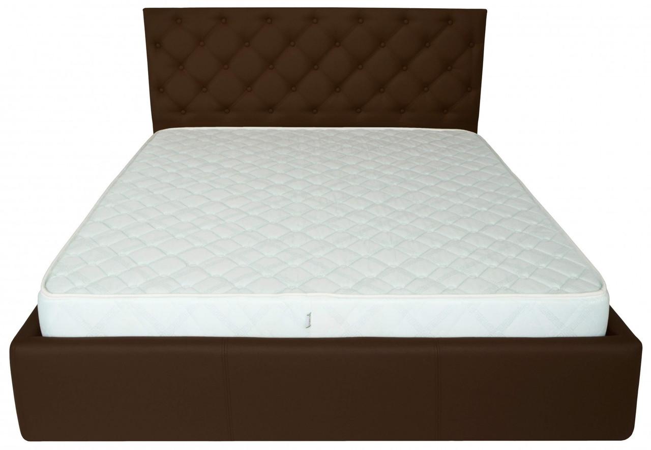 Кровать Richman Ковентри 140 х 190 см Флай 2231 A1 Темно-коричневая