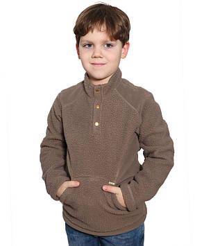 Дитяча флісова кофта з кишенею-кенгуру (122-158 в кольорах)