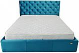 Кровать Richman Ковентри 140 х 200 см Missoni 016 С подъемным механизмом и нишей для белья Голубая, фото 2