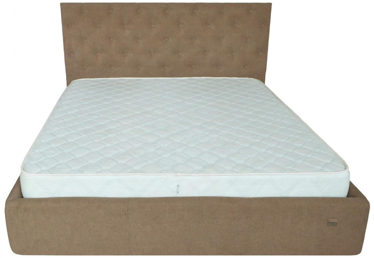 Ліжко Richman Ковентрі 140 х 200 см Місті Light Brown З підйомним механізмом і нішею для білизни Коричнева