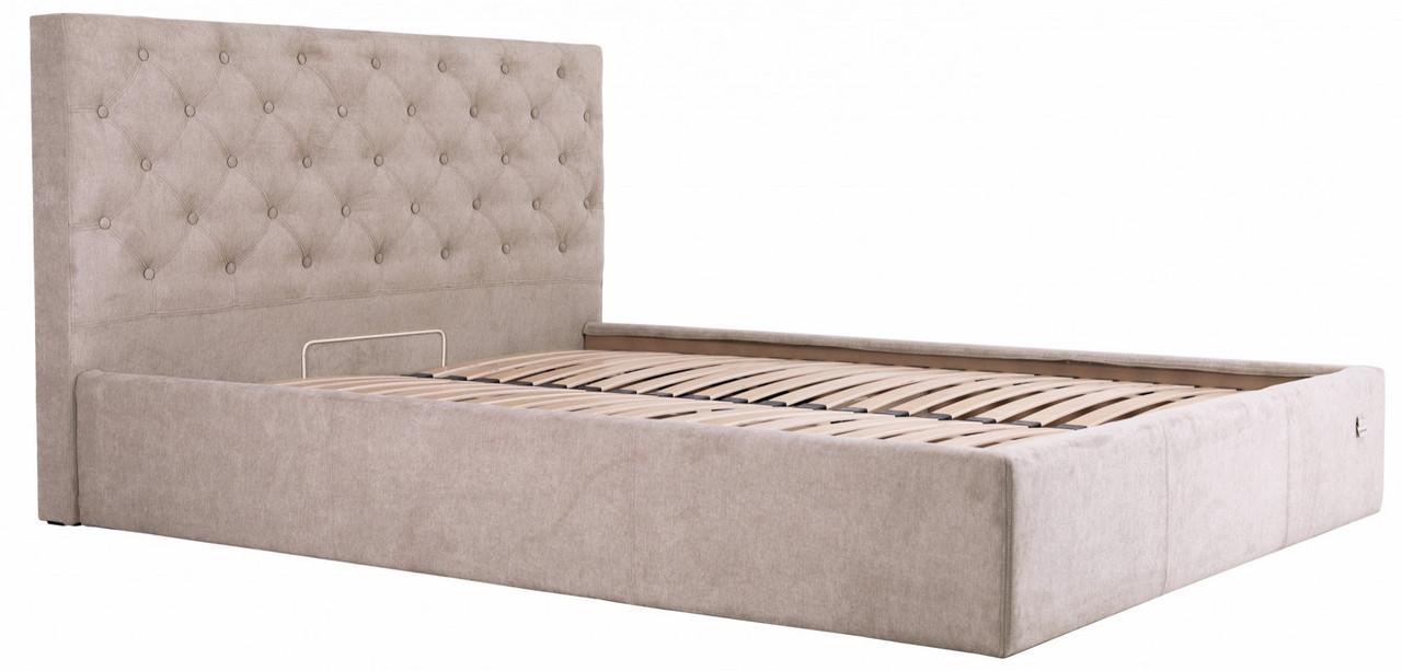 Ліжко Richman Ковентрі 140 х 200 см Місті Mocco Сіра