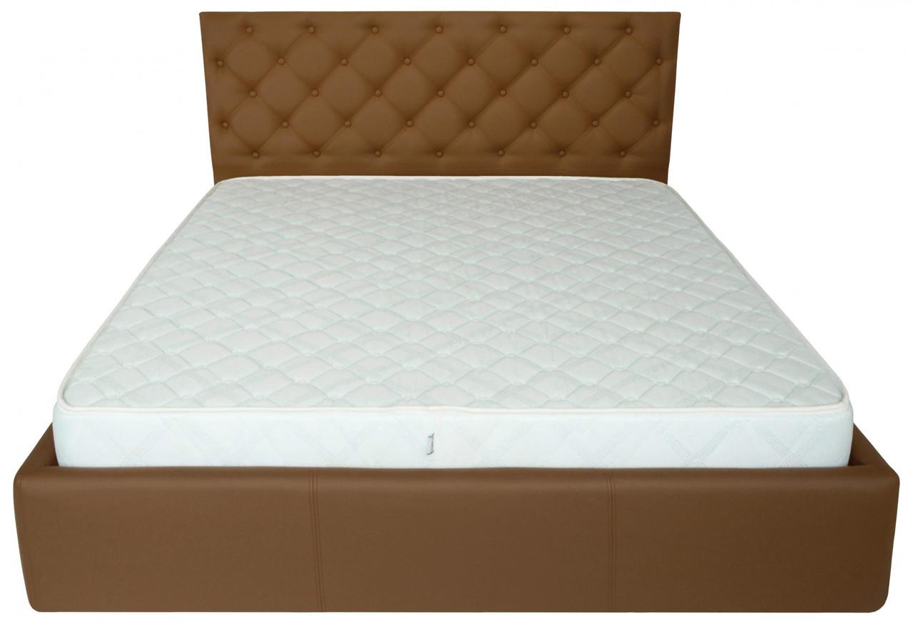 Кровать Coventry Comfort 140 х 200 см Fly 2213 С подъемным механизмом и нишей для белья Светло-коричневая