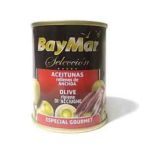 Оливки BayMar фаршировані анчоусом 120г*3шт, 24 шт/ящ