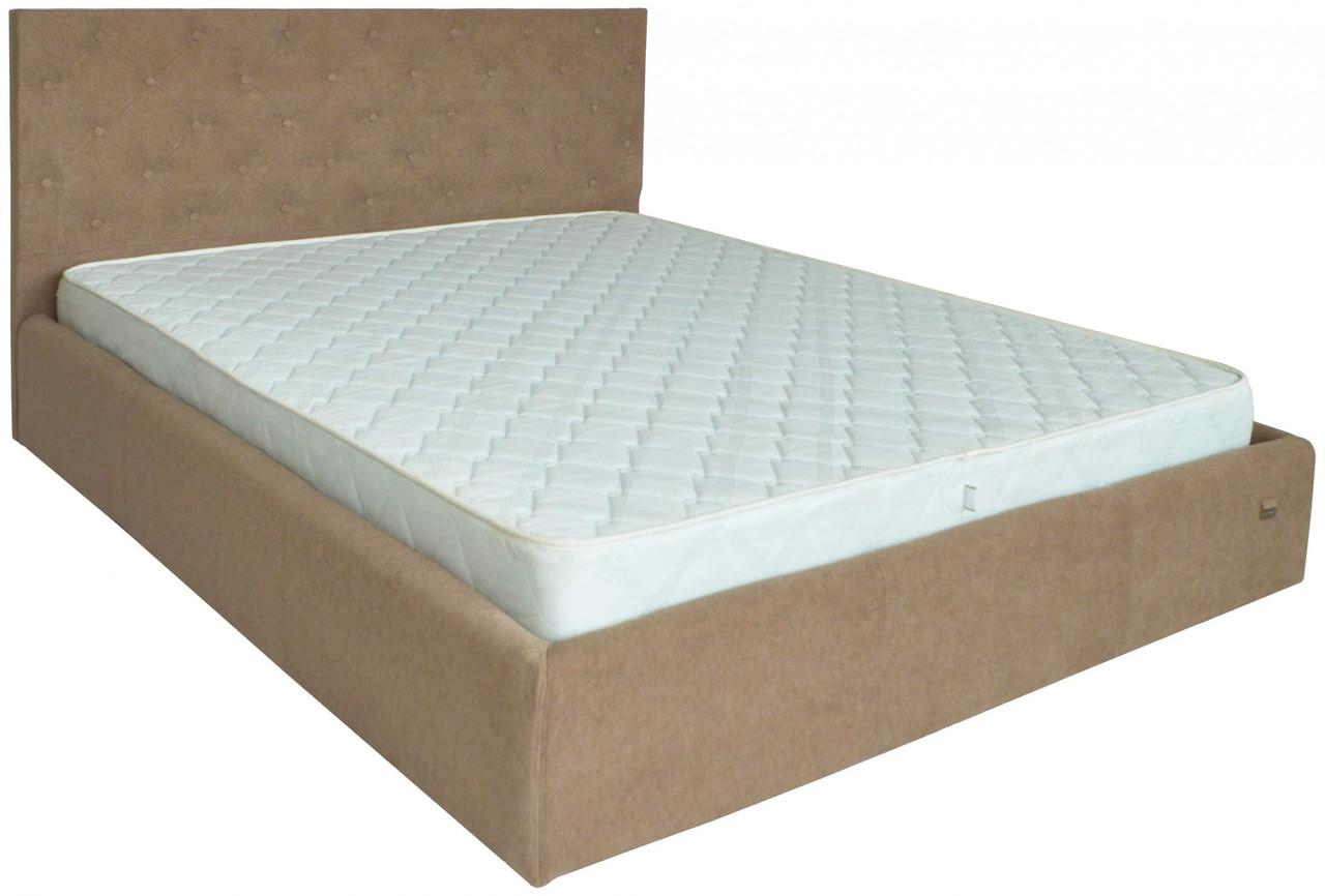 Ліжко Двоспальне Richman Ковентрі 160 х 190 см Місті Light Brown З підйомним механізмом і нішею для білизни Коричнева