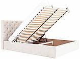 Кровать Двуспальная Richman Ковентри 160 х 190 см Мисти Milk С подъемным механизмом и нишей для белья Бежевая, фото 6