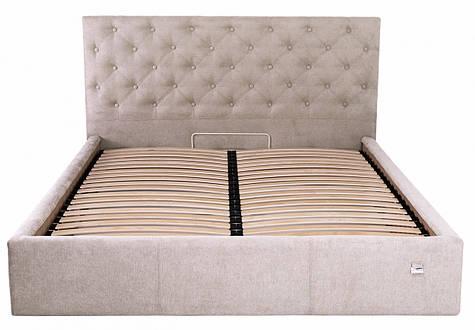 Кровать Двуспальная Coventry Comfort 160 х 190 см Мисти Mocco С подъемным механизмом и нишей для белья Серая