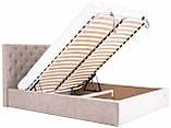 Кровать Двуспальная Richman Ковентри 160 х 190 см Мисти Mocco С подъемным механизмом и нишей для белья Серая, фото 6