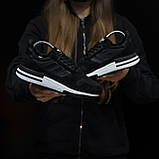 Стильні кросівки Adidas ZX 500 Black White / Адідас, фото 2