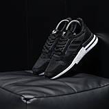 Стильные кроссовки Adidas ZX 500 Black White / Адидас, фото 3