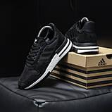 Стильні кросівки Adidas ZX 500 Black White / Адідас, фото 6