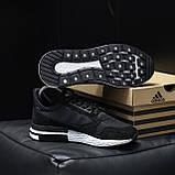 Стильні кросівки Adidas ZX 500 Black White / Адідас, фото 8
