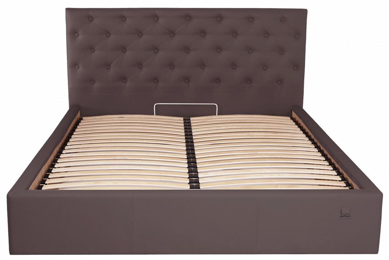 Кровать Двуспальная Richman Ковентри 160 х 190 см Флай 2231 С подъемным механизмом и нишей для белья Темно-коричневая