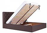 Кровать Двуспальная Richman Ковентри 160 х 190 см Флай 2231 С подъемным механизмом и нишей для белья Темно-коричневая, фото 9