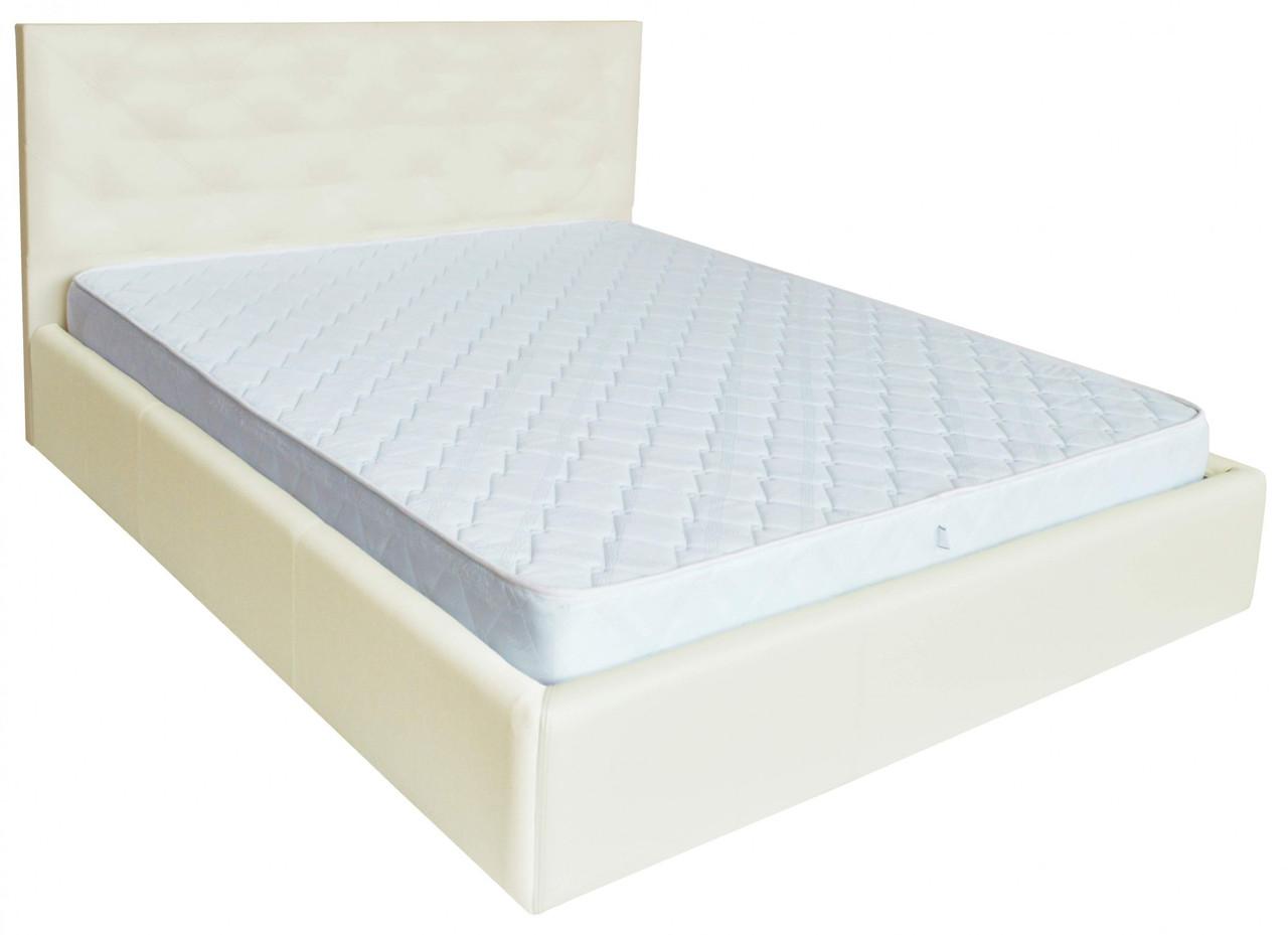 Кровать Двуспальная Richman Ковентри 160 х 200 см Флай 2200 A1 С подъемным механизмом и нишей для белья Белая