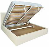 Кровать Двуспальная Richman Ковентри 160 х 200 см Флай 2200 A1 С подъемным механизмом и нишей для белья Белая, фото 4