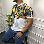 😜 Футболка - Мужская футболка белая с молнией, фото 3
