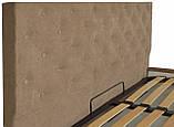 Кровать Двуспальная Richman Ковентри 180 х 200 см Мисти Light Brown С подъемным механизмом и нишей для белья, фото 3