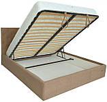Кровать Двуспальная Richman Ковентри 180 х 200 см Мисти Light Brown С подъемным механизмом и нишей для белья, фото 4