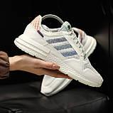 Стильні кросівки Adidas ZX 500 RM, White, фото 4