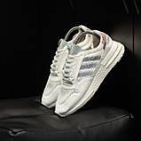 Стильні кросівки Adidas ZX 500 RM, White, фото 3