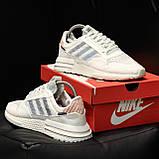 Стильні кросівки Adidas ZX 500 RM, White, фото 5