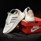 Стильні кросівки Adidas ZX 500 RM, White, фото 7