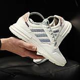 Стильні кросівки Adidas ZX 500 RM, White, фото 6