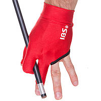 Перчатка бильярдная (1шт) IBS KS-0516 (нейлон, эластан, в уп.-1шт, цена за 1шт, черный, синий, красный)