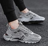 Кросівки сірі в стилі Off-White, фото 2