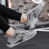 Кросівки сірі в стилі Off-White, фото 3