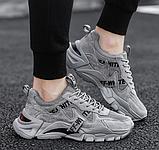 Кросівки сірі в стилі Off-White, фото 4