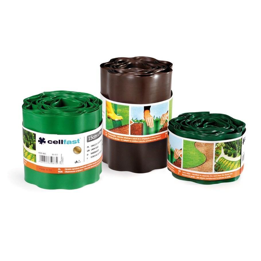 Бордюр газонный волнистый /коричневый/ 20 см x 9 м Качество ЕС