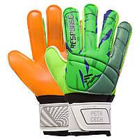 Вратарские Детские перчатки PETRCECH оранжево-зеленые