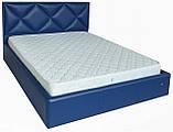 Кровать Richman Лидс 140 х 190 см Boom 21 С подъемным механизмом и нишей для белья Синяя, фото 2