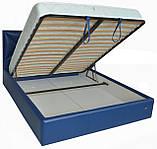 Кровать Richman Лидс 140 х 190 см Boom 21 С подъемным механизмом и нишей для белья Синяя, фото 4