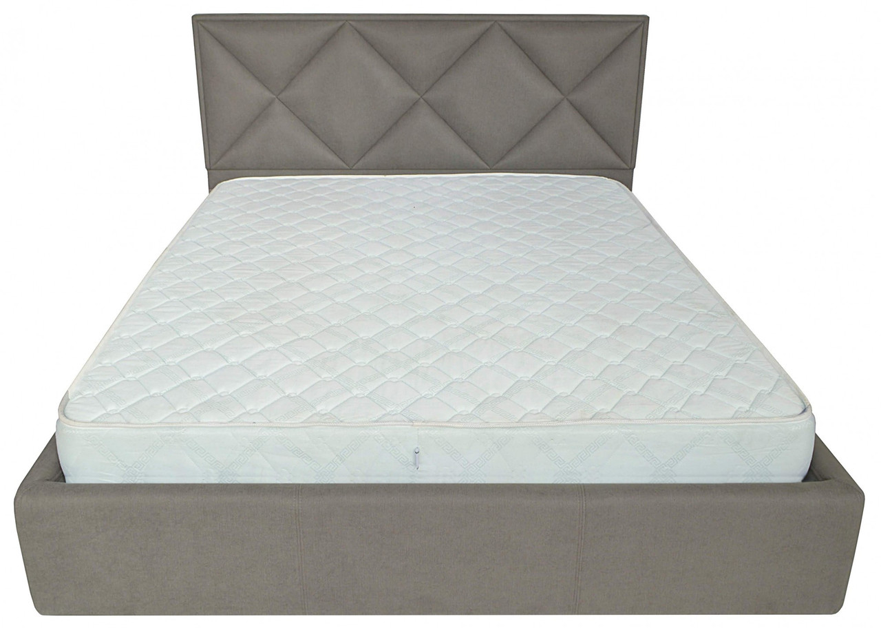 Кровать Richman Лидс 140 х 190 см Fibril 12 Серая