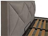 Кровать Richman Лидс 140 х 190 см Fibril 12 Серая, фото 3