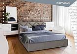 Кровать Richman Лидс 140 х 190 см Fibril 12 Серая, фото 6