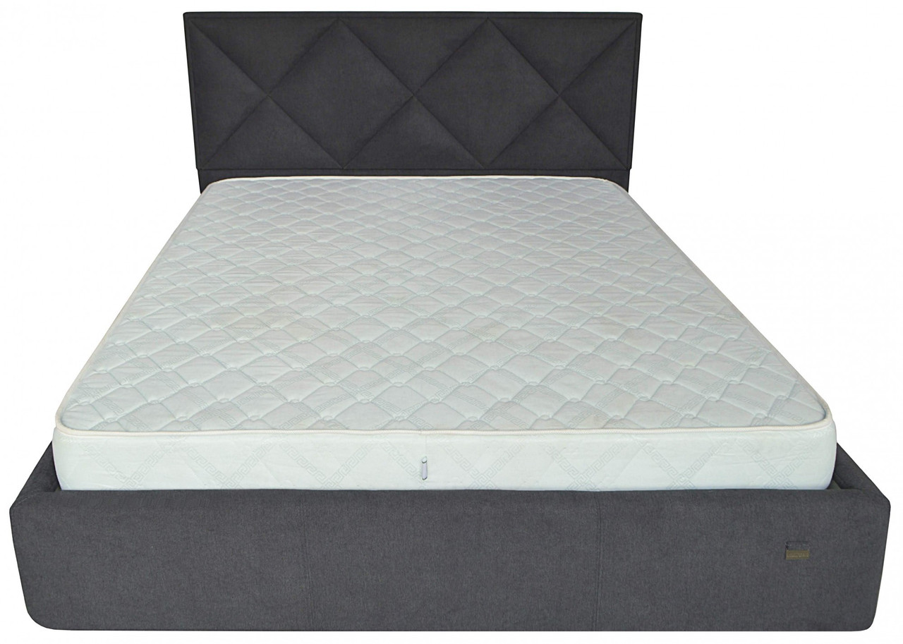 Кровать Richman Лидс 140 х 190 см Мисти Dark Grey A1 Темно-серая