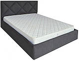Кровать Richman Лидс 140 х 190 см Мисти Dark Grey A1 Темно-серая, фото 2