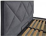 Кровать Richman Лидс 140 х 190 см Мисти Dark Grey A1 Темно-серая, фото 3
