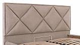 Кровать Richman Лидс 140 х 190 см Мисти Mocco С подъемным механизмом и нишей для белья Серая, фото 5
