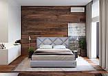 Кровать Richman Лидс 140 х 190 см Мисти Mocco С подъемным механизмом и нишей для белья Серая, фото 10