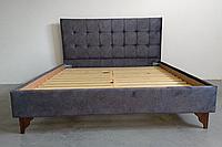 Ліжко  Soft двохспальне 160х200 см сіре / Кровать Soft двухспальная 160x200 см серая
