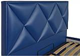 Кровать Двуспальная Richman Лидс 160 х 200 см Boom 21 Синяя, фото 3