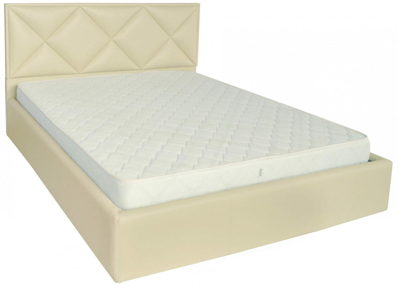 Кровать Двуспальная Richman Лидс 160 х 200 см Флай 2207 A1 С подъемным механизмом и нишей для белья Бежевая