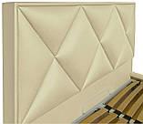 Кровать Двуспальная Richman Лидс 160 х 200 см Флай 2207 A1 С подъемным механизмом и нишей для белья Бежевая, фото 3